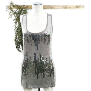 Design History Sequin Tank Top Size Small